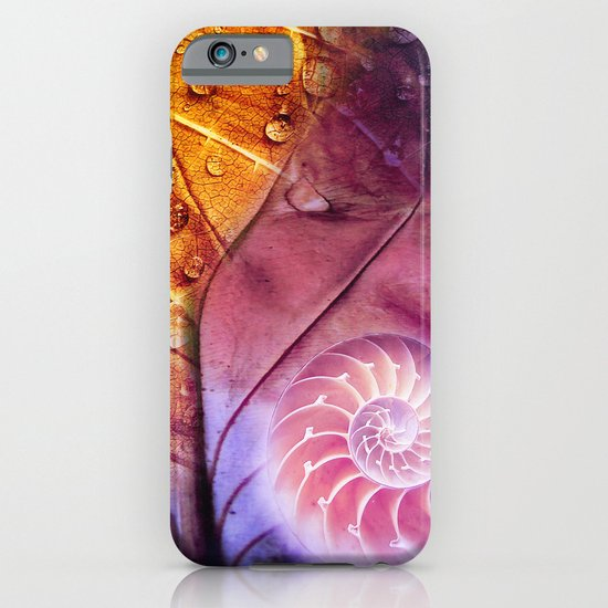 SHELTERED - Conceptual Composing with shell, leaf and waterdrops iPhone & iPod Case