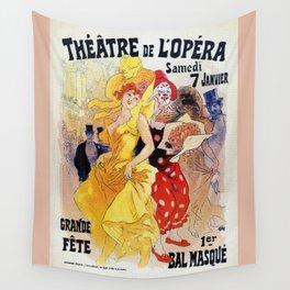 1897 Carnaval Ball Paris Opera Wall Tapestry