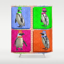 Perfect Penguin Portraits Shower Curtain