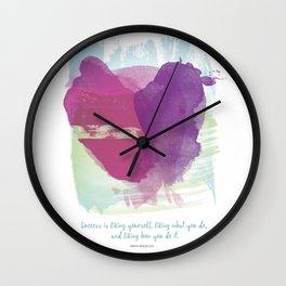 Success, by Maya Angelou Wall Clock