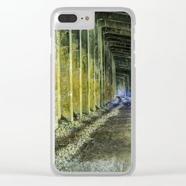 Great Norther Railroad Snow Shed Clear iPhone Case
