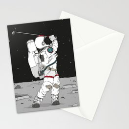 Golf on the moon - Astronaut Stationery Cards