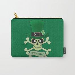 100% Irish.Green lucky irish skull Carry-All Pouch