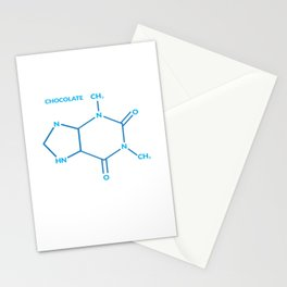 Chocolate Chemistry Formula Science Teacher Gift Stationery Cards