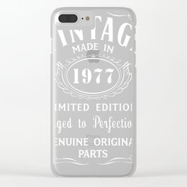 40th Birthday Gift Idea TShirt Vintage Made In 1977 Clear iPhone Case