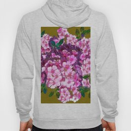 PURPLE-PINK PHLOX FLOWERS AVOCADO ART Hoody