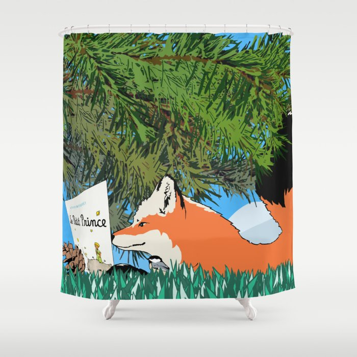 The fox and the Little Prince Shower Curtain