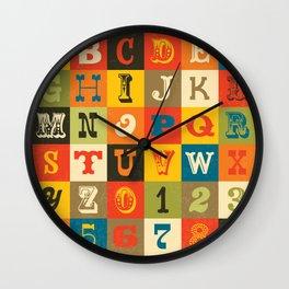 VINTAGE ALPHABET Wall Clock
