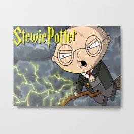 Stewie Potter A Magical Animated Parody Metal Print