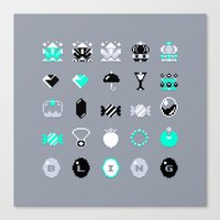 8 bit Canvas Prints featuring 8-Bit Bling by Spires