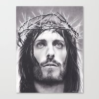 christ Canvas Prints featuring Christ by Brittni DeWeese