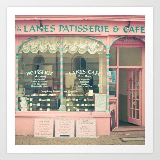 Sweet Cafe Art Print