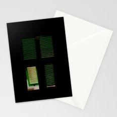 finestra verde Stationery Cards