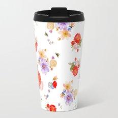RED FLORAL Travel Mug