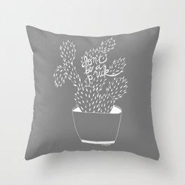 cactus in white Throw Pillow