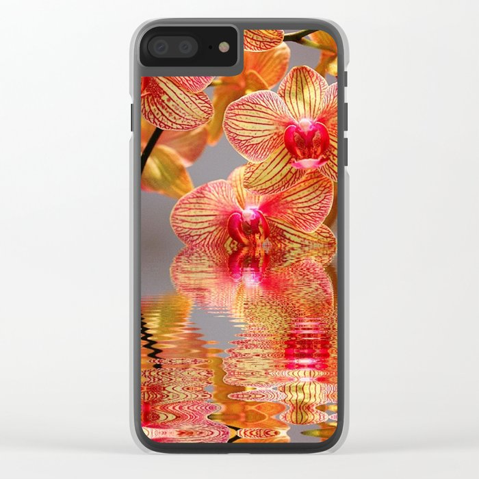 Orchid Reflections Clear iPhone Case