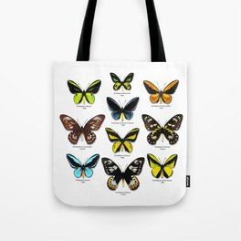 Butterfly012_Ornithoptera Set1 on White Background Tote Bag