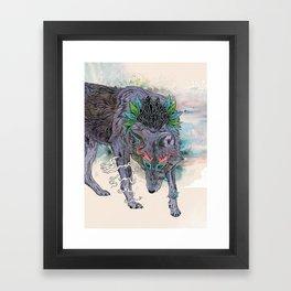 Journeying Spirit (wolf) Framed Art Print