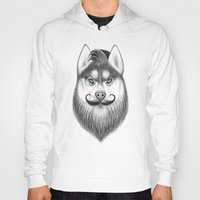 husky Hoodies featuring bearded husky by NikKor