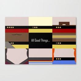 TNG - All Good Things - Minimalist Star Trek TNG The Next Generation 1701 D  startrek  Trektangles Canvas Print