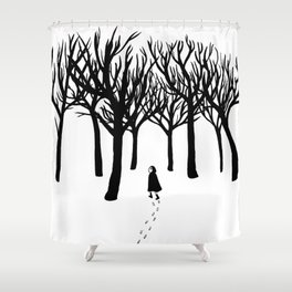 A Tangle of Trees Shower Curtain