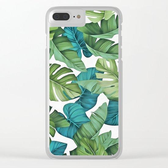 Tropical leaves II Clear iPhone Case