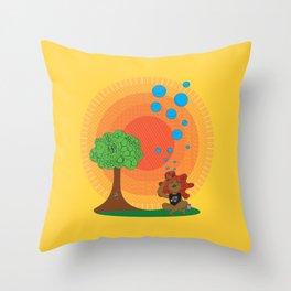 Salve o planeta Throw Pillow