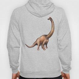 Realistic watercolor dinosaur Hoody