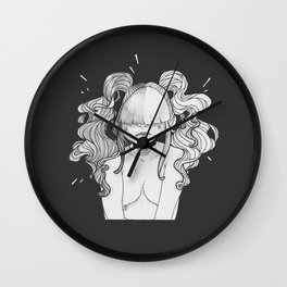 Goth Girl Wall Clock