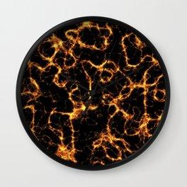 Orange thunder Wall Clock