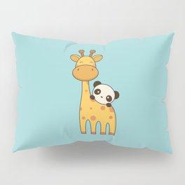 Cute and Kawaii Giraffe and Panda Pillow Sham