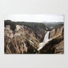YELLOWSTONE WATERFALLSS Canvas Print