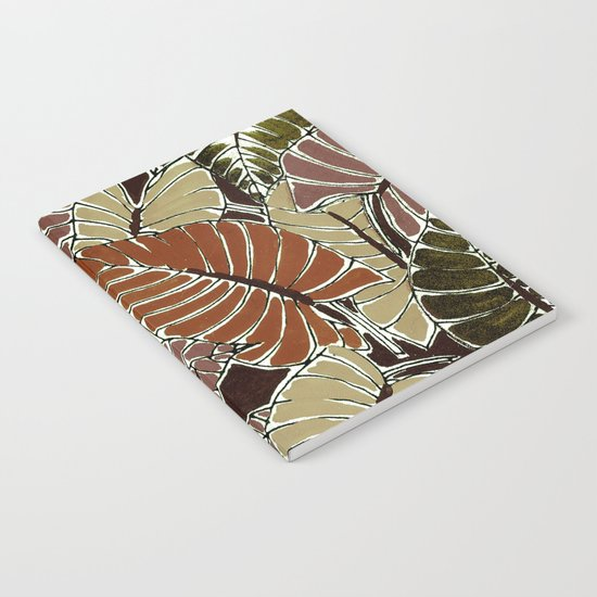 50's bongo leaf Notebook
