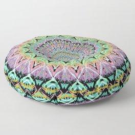 Black Pastel Mandala 012018 Floor Pillow