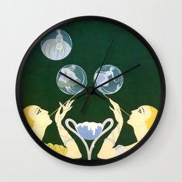 """Art Deco Design """"Bubbles"""" by Erté Wall Clock"""