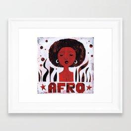 *AFRO* Framed Art Print