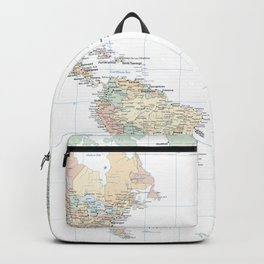 Clear World Map Backpack