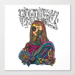 Robolism - Monalisa Canvas Print