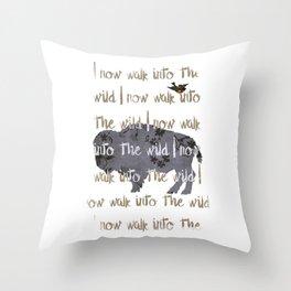 Walk into the Wild Throw Pillow