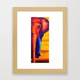 Sunset Elephant Framed Art Print