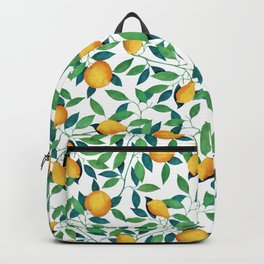 Lemon pattern II Backpack