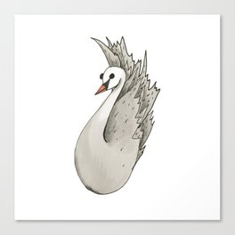 Almost Very Nearly Black Swan  Canvas Print