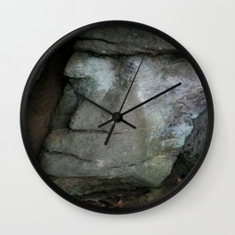 face in the mountain--chimney rock state park Wall Clock