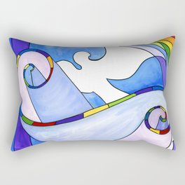 Rainbow, Dove, Torah Rectangular Pillow