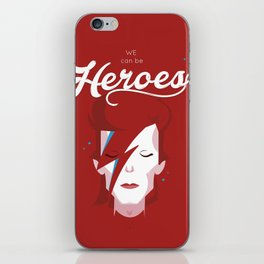 bowie forever red iPhone Skin