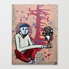 Bird In Gas Mask Canvas Print
