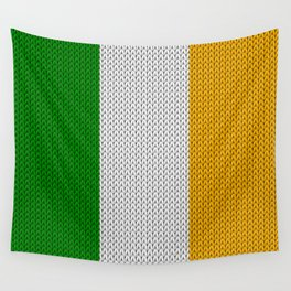 Flag of Ireland - knitted Wall Tapestry
