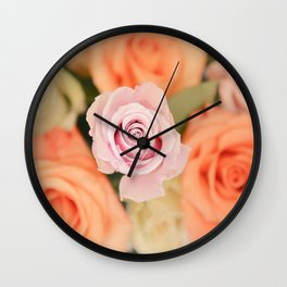 Summer Roses Wall Clock