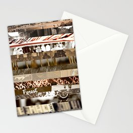 Brown Intersections Stationery Cards