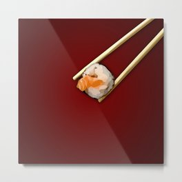 Sushi in red Metal Print
